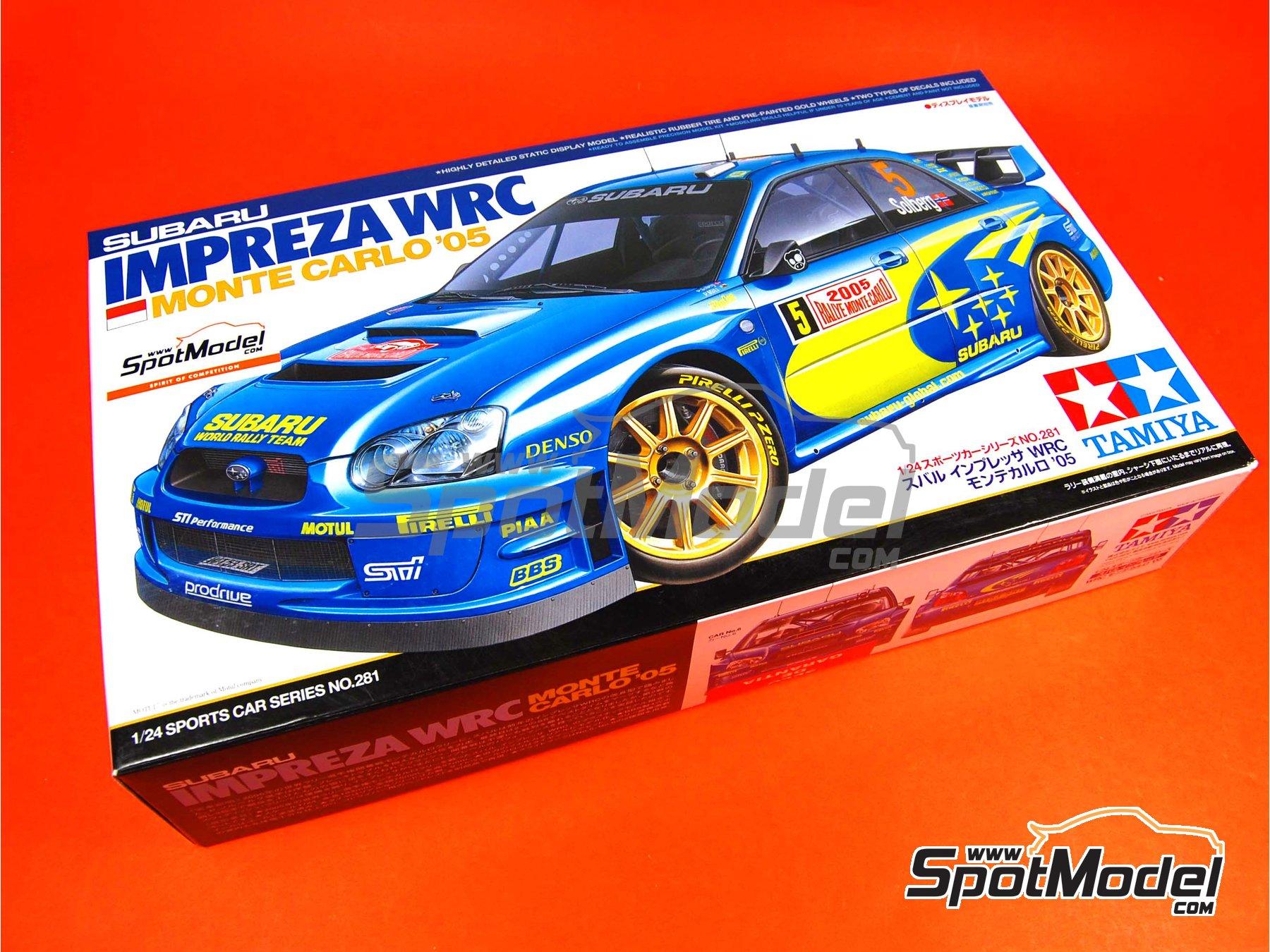 Image 12: Subaru Impreza WRC - Montecarlo Rally - Rallye Automobile de Monte-Carlo 2005 | Model car kit in 1/24 scale manufactured by Tamiya (ref.TAM24281, also 24281)