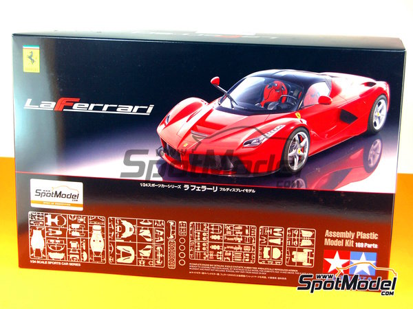 Image 1: Ferrari Laferrari | Model car kit in 1/24 scale manufactured by Tamiya (ref. TAM24333, also 24333)