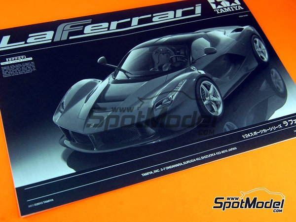 Image 13: Ferrari Laferrari | Model car kit in 1/24 scale manufactured by Tamiya (ref. TAM24333, also 24333)
