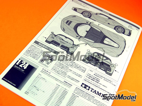 Image 17: Ferrari Laferrari | Model car kit in 1/24 scale manufactured by Tamiya (ref. TAM24333, also 24333)