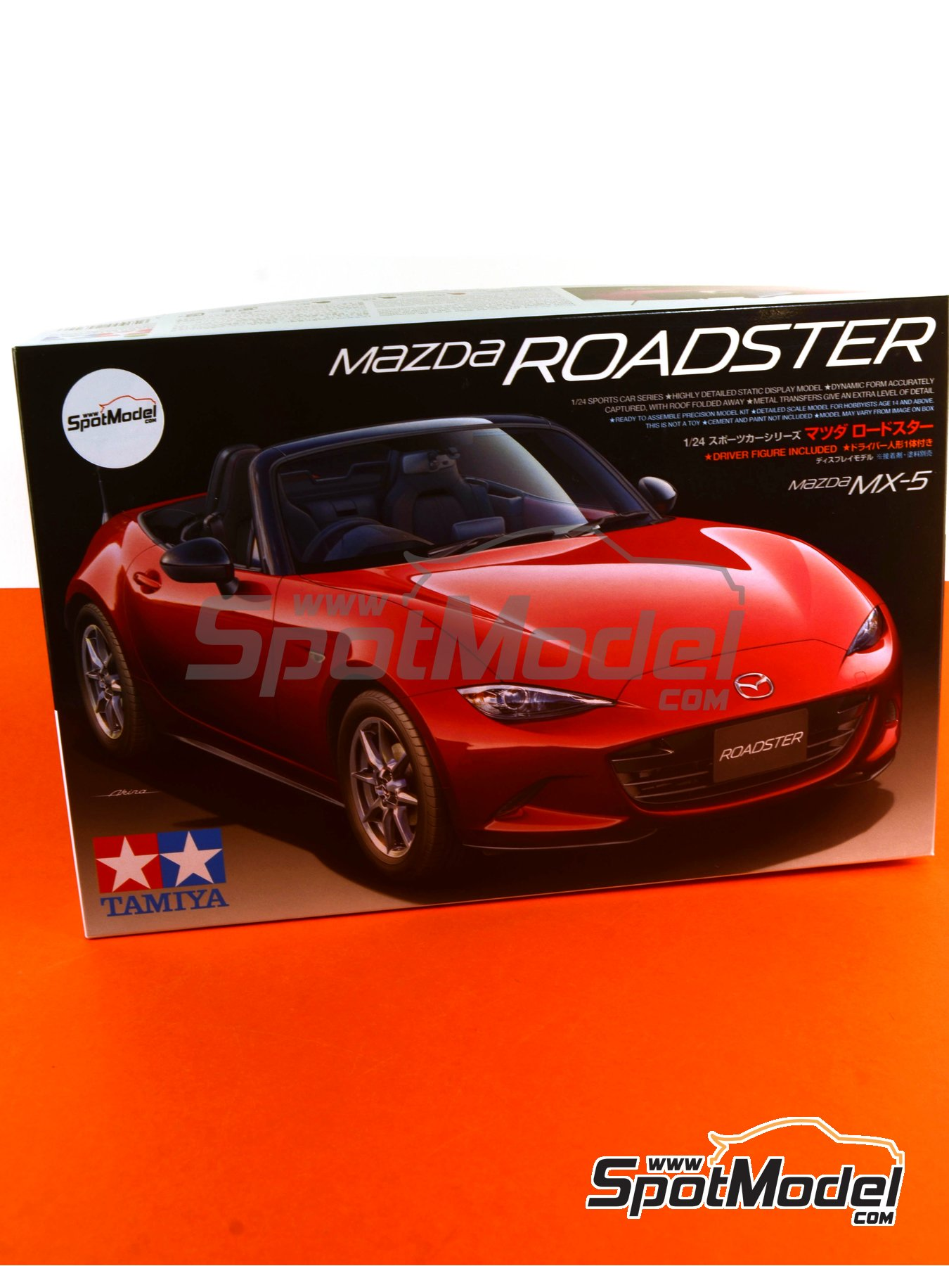 Mazda MX-5  Roadster | Model car kit in 1/24 scale manufactured by Tamiya (ref.TAM24342, also 24342) image
