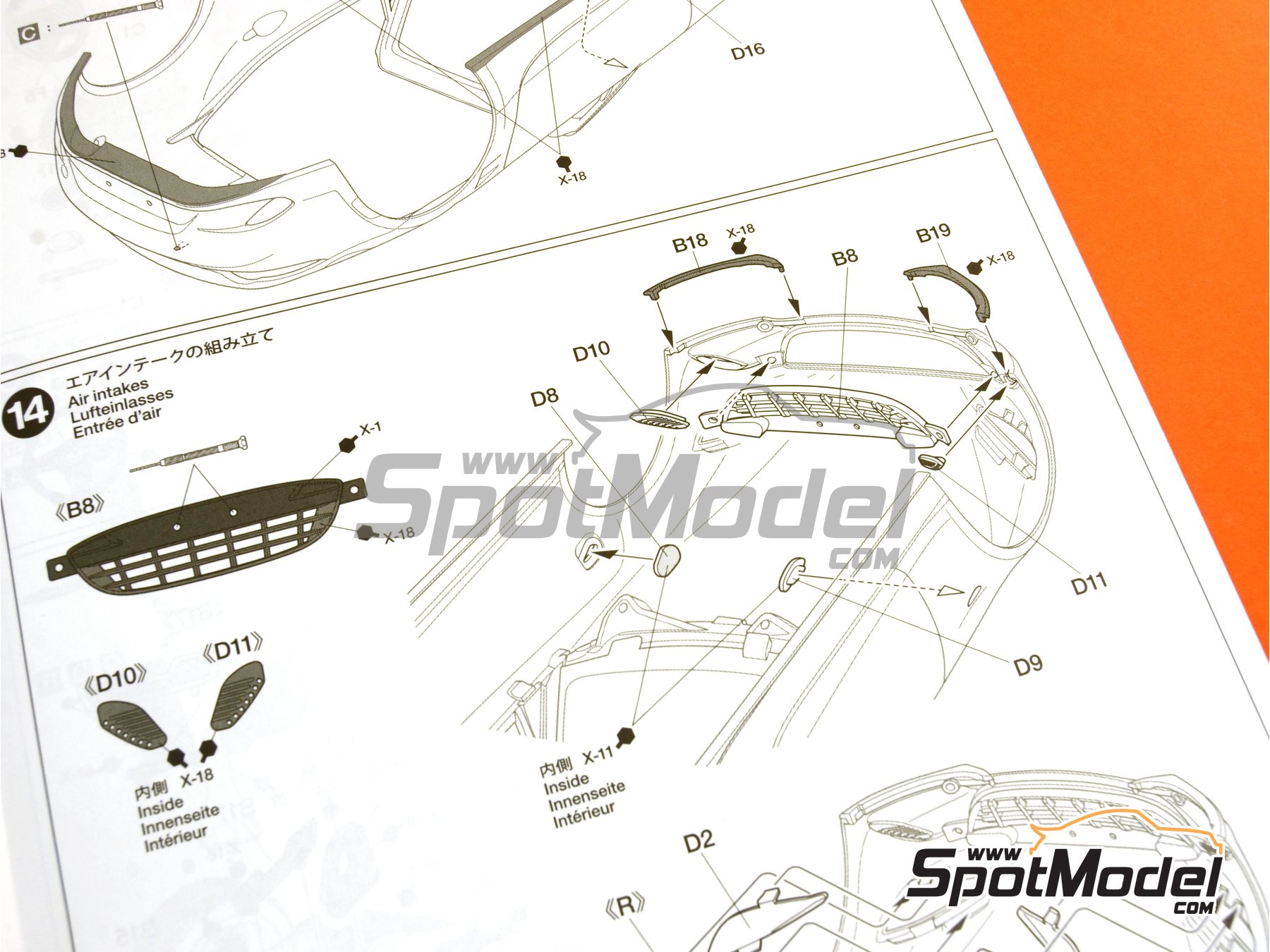 Image 24: Mazda MX-5  Roadster | Model car kit in 1/24 scale manufactured by Tamiya (ref.TAM24342, also 24342)