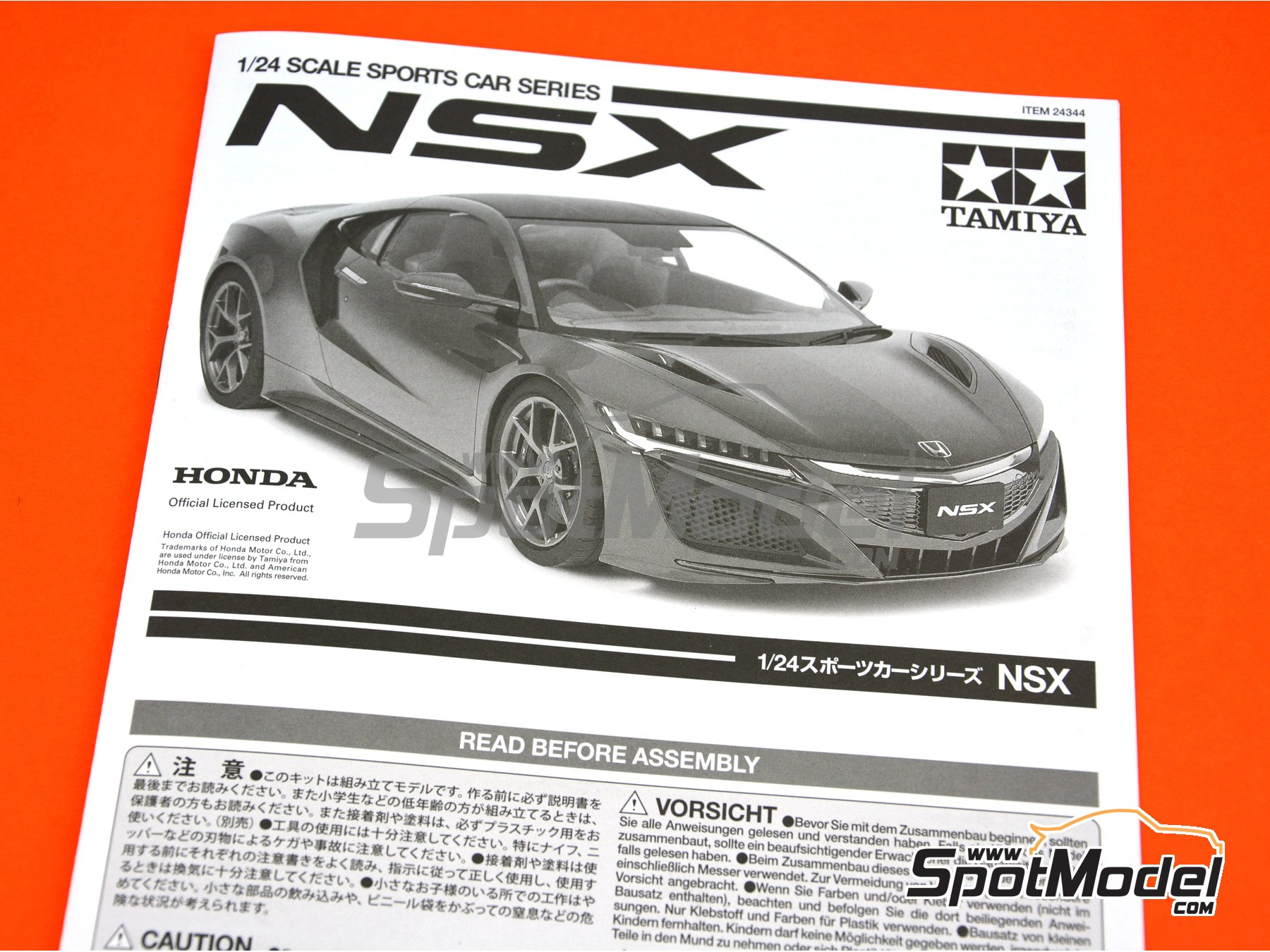 Image 13: Honda Acura NSX | Model car kit in 1/24 scale manufactured by Tamiya (ref. TAM24344)