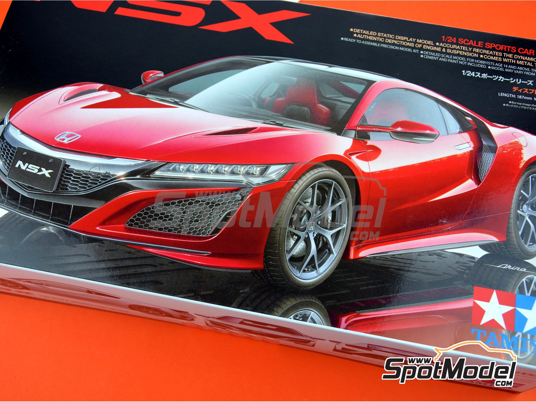 Image 18: Honda Acura NSX | Model car kit in 1/24 scale manufactured by Tamiya (ref. TAM24344)