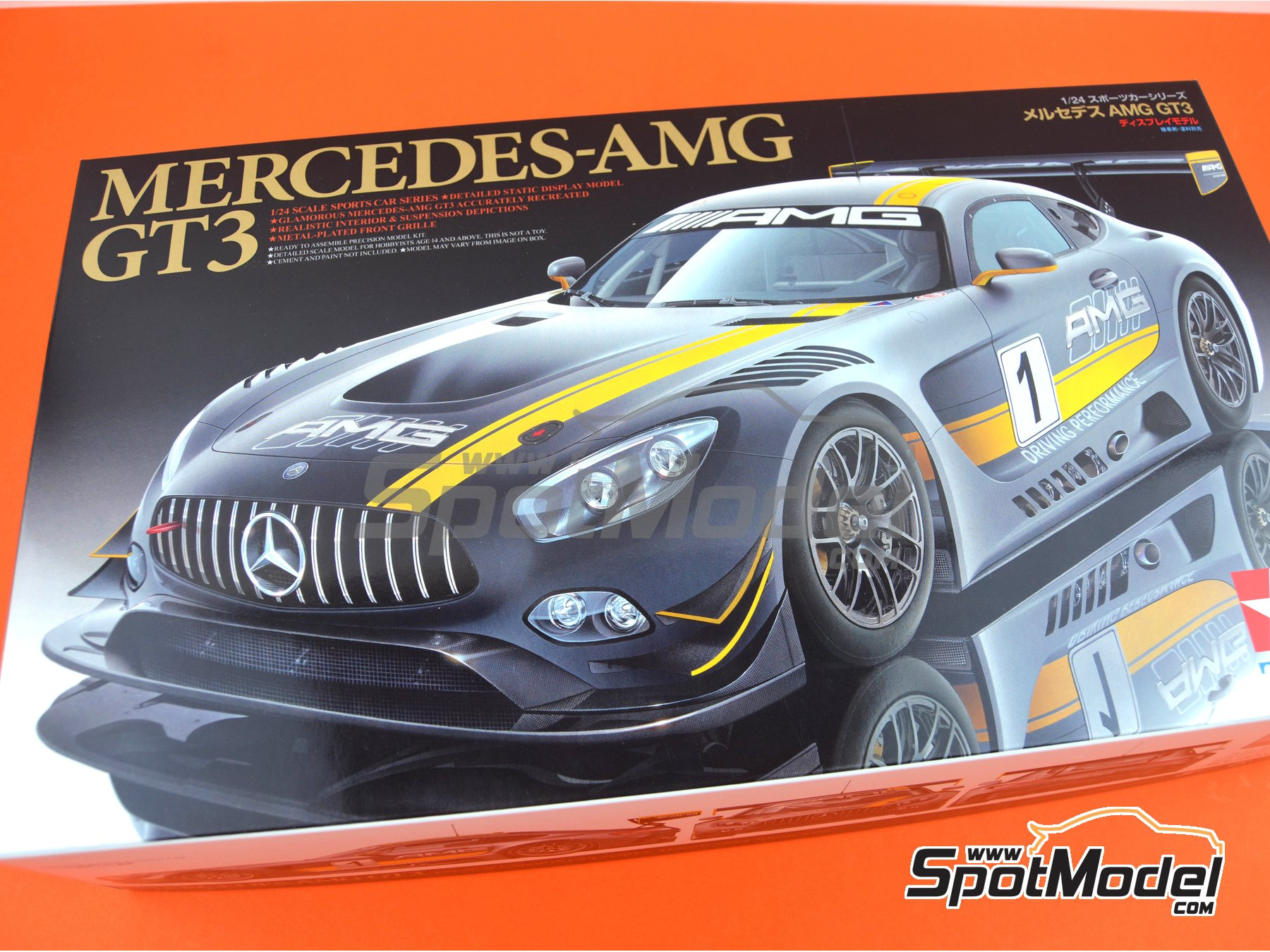 Image 17: Mercedes Benz AMG GT3 | Model car kit in 1/24 scale manufactured by Tamiya (ref. TAM24345)