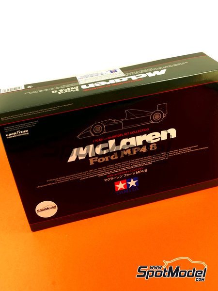 McLaren Ford MP4/8 Courtaulds - FIA Formula 1 World Championship 1993 | Model car kit in 1/20 scale manufactured by Tamiya (ref. TAM25172, also 25172) image