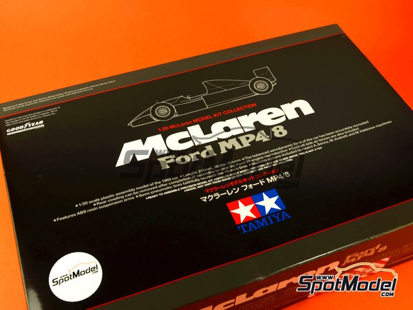 Image 12: McLaren Ford MP4/8 Courtaulds - FIA Formula 1 World Championship 1993 | Model car kit in 1/20 scale manufactured by Tamiya (ref. TAM25172, also 25172)