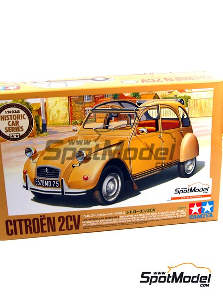 Citroën 2CV | Model car kit in 1/24 scale manufactured by Tamiya (ref. TAM25415, also 25415) image