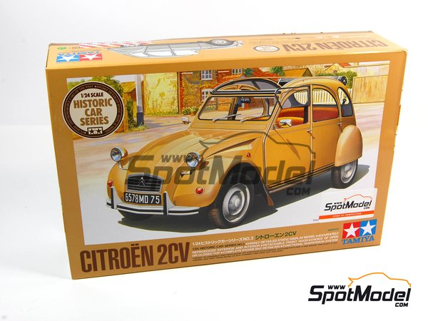 Image 12: Citroën 2CV | Model car kit in 1/24 scale manufactured by Tamiya (ref. TAM25415, also 25415)