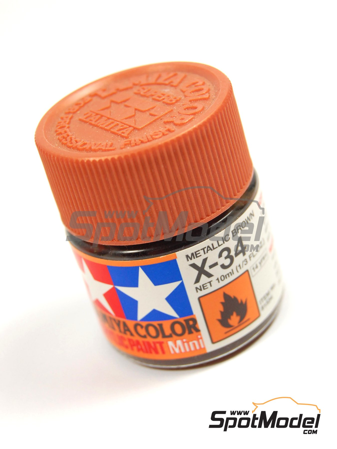 Color Marron metalizado X-34 Metallic Brown - 1 x 10ml | Pintura acrílica fabricado por Tamiya (ref. TAM81534) image