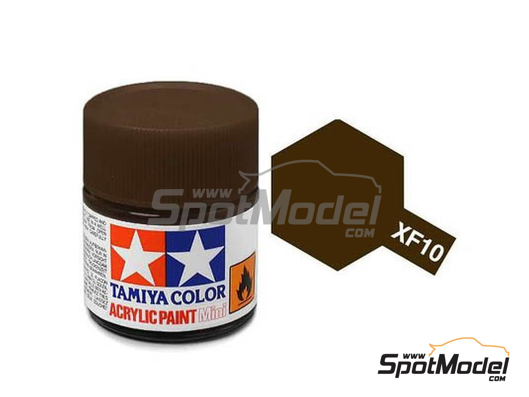 Image 1: Marrón mate - XF-10 - Flat brown - 1 x 10ml | Pintura acrílica fabricado por Tamiya (ref.TAM81710)