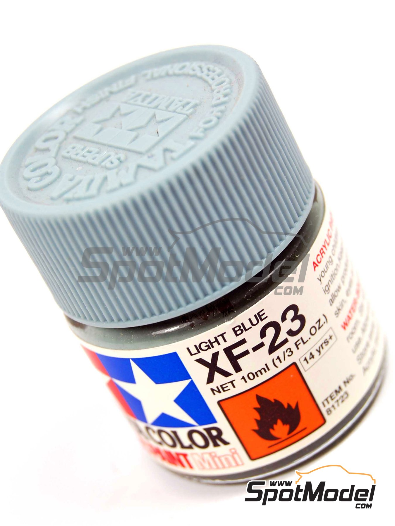 Light blue XF-23 - 1 x 10ml | Acrylic paint manufactured by Tamiya (ref.TAM81723) image
