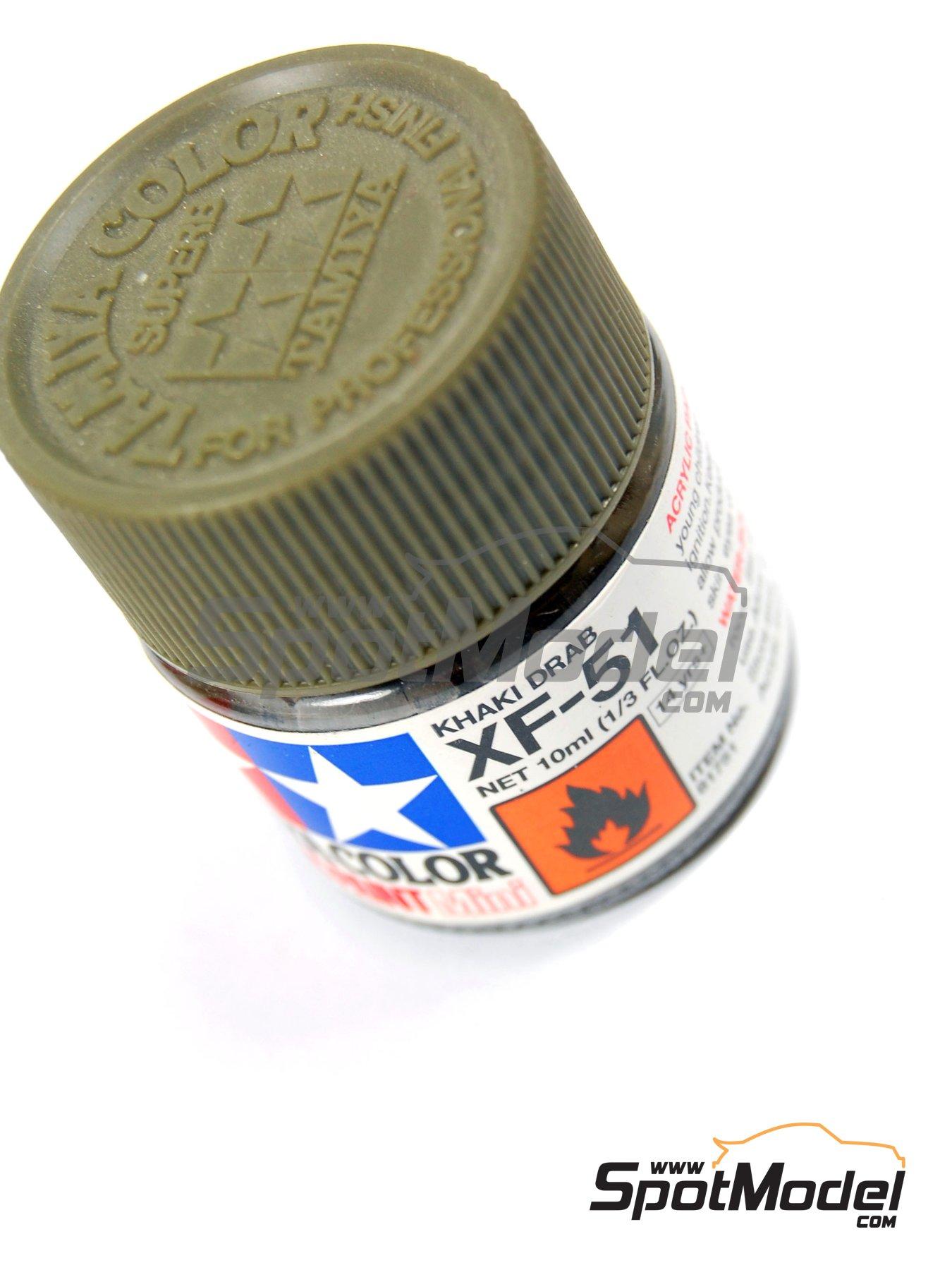Color Gris khaki XF-51 Khaki drab - 1 x 10ml | Pintura acrílica fabricado por Tamiya (ref.TAM81751) image