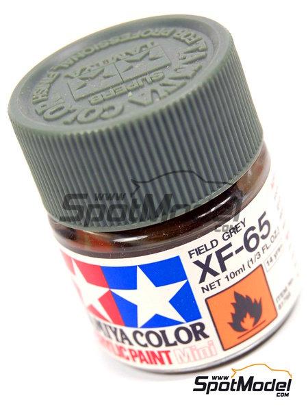 Field grey XF-65 - 1 x 10ml   Acrylic paint manufactured by Tamiya (ref.TAM81765) image