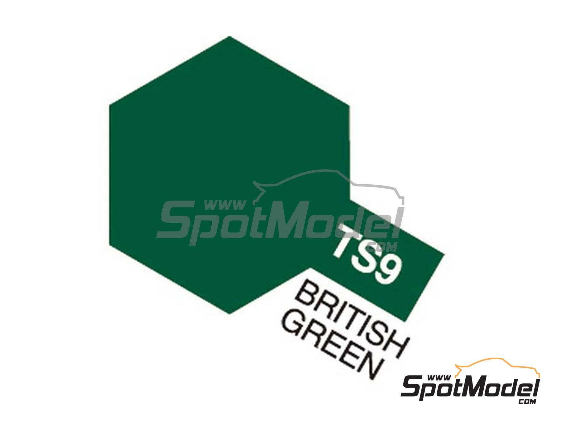 Image 1: British green - TS-9 | Spray manufactured by Tamiya (ref.TAM85009, also 85009, TS9 and TS-9)