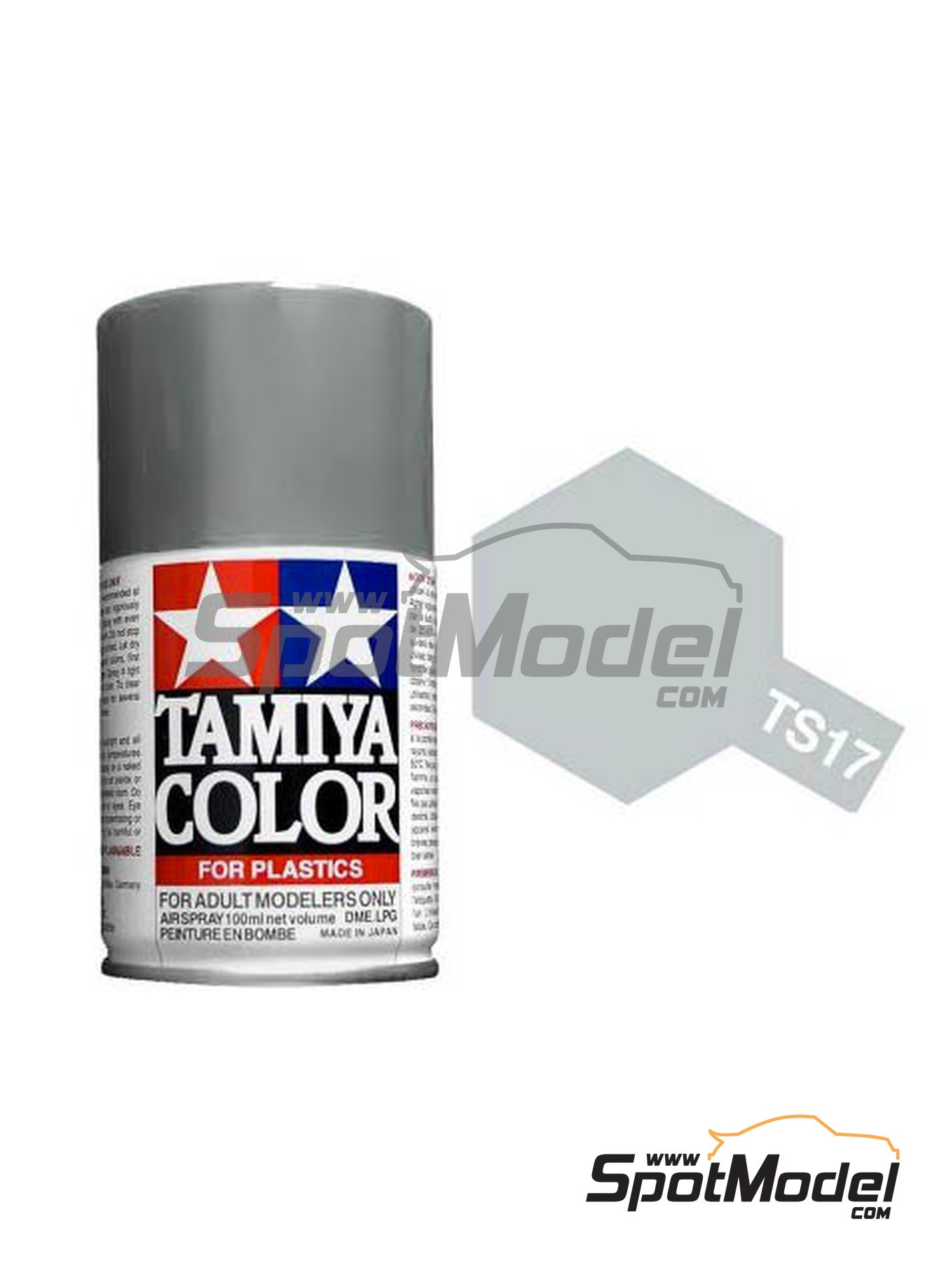 Aluminum Silver - TS-17 | Spray manufactured by Tamiya (ref. TAM85017) image