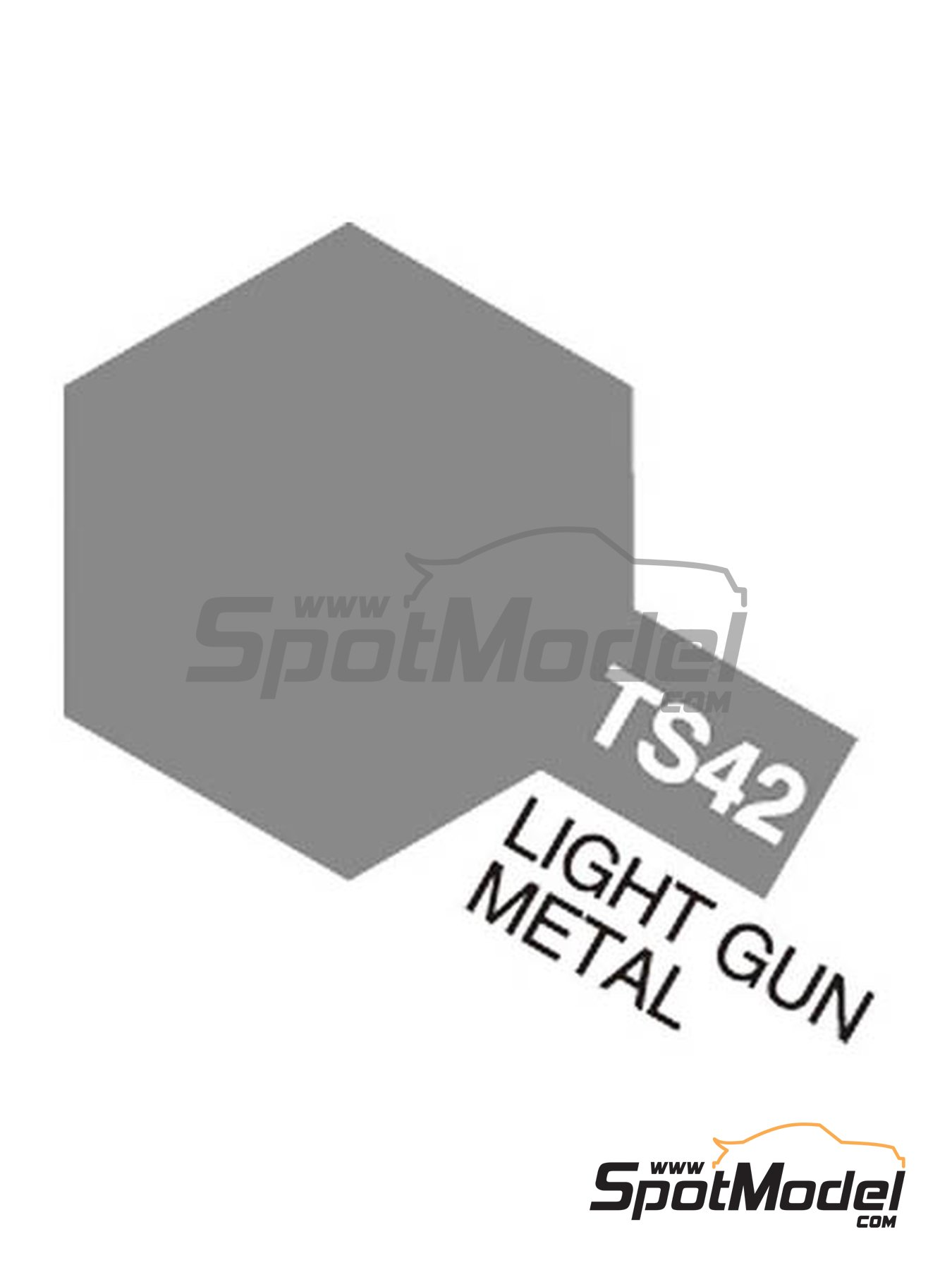 Light gun metal - TS-42   Spray manufactured by Tamiya (ref.TAM85042, also 85042 and TS-42) image