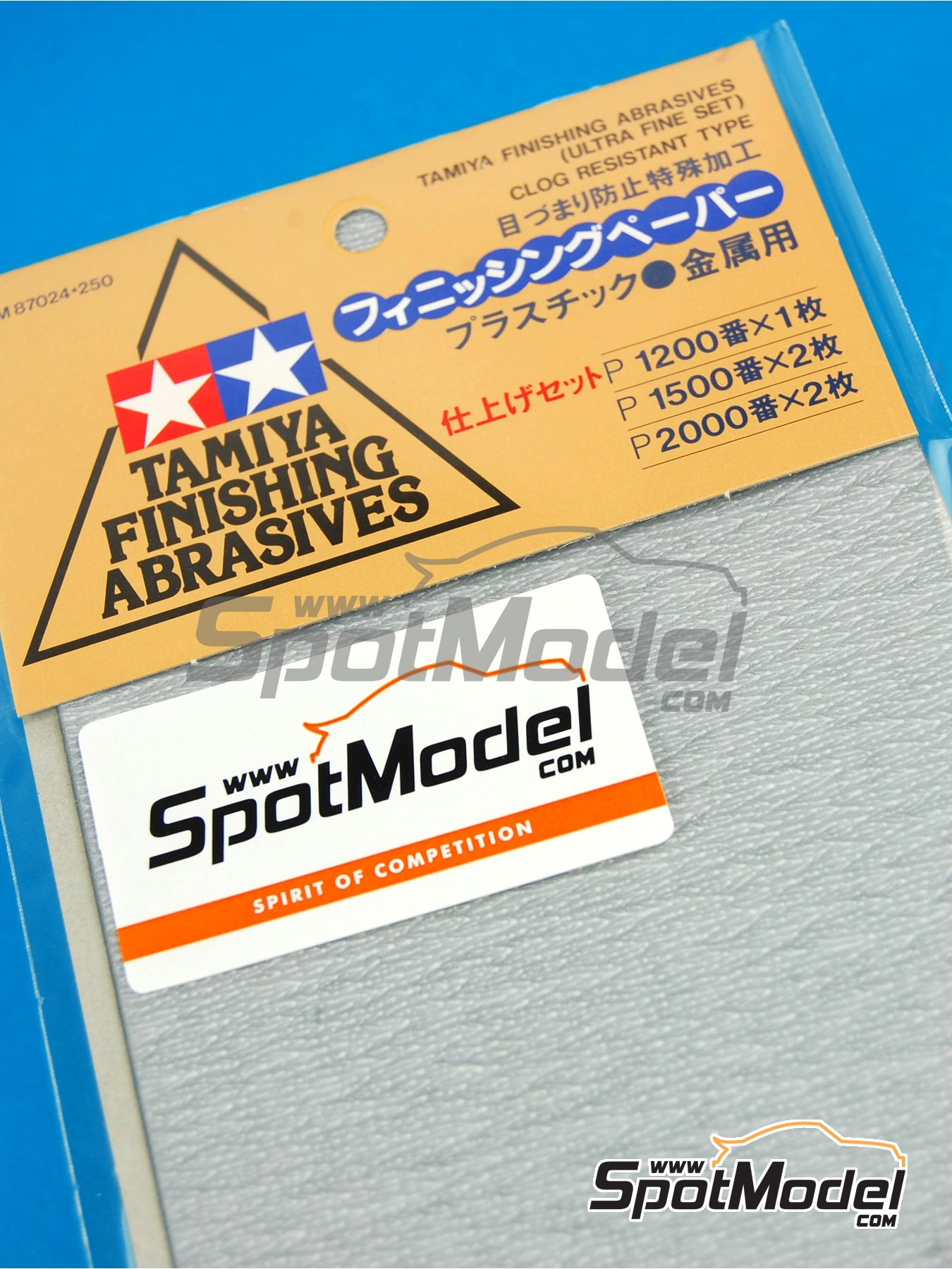 Finishing abrasives - Ultra fine set - 1 x 1200 - 2 x 1500 - 2 x 2000 | Sandpaper manufactured by Tamiya (ref. TAM87024) image