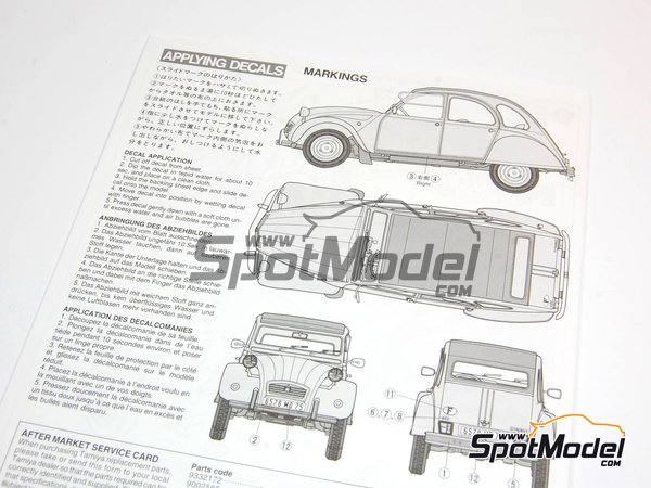 Image 3: Citroen 2CV | Model car kit in 1/24 scale manufactured by Tamiya (ref. TAM25415)