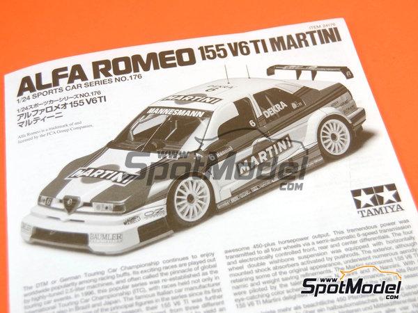 Image 15: Alfa Romeo 155 V6 TI Martini - DTM 1996   Maqueta de coche en escala1/24 fabricado por Tamiya (ref.TAM24176, tambien 24176)