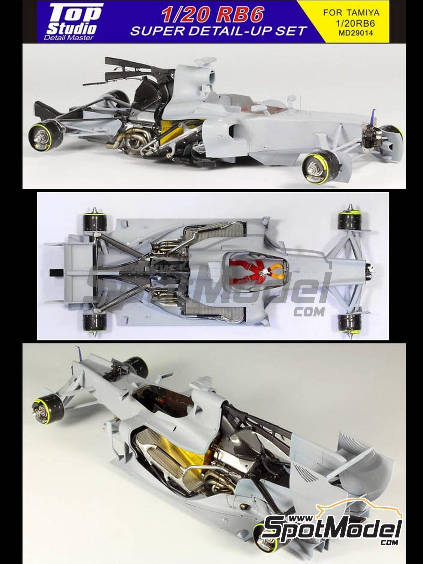 RB Racing Renault RB6   Set de mejora y detallado en escala1/20 fabricado por Top Studio (ref.MD29014) image