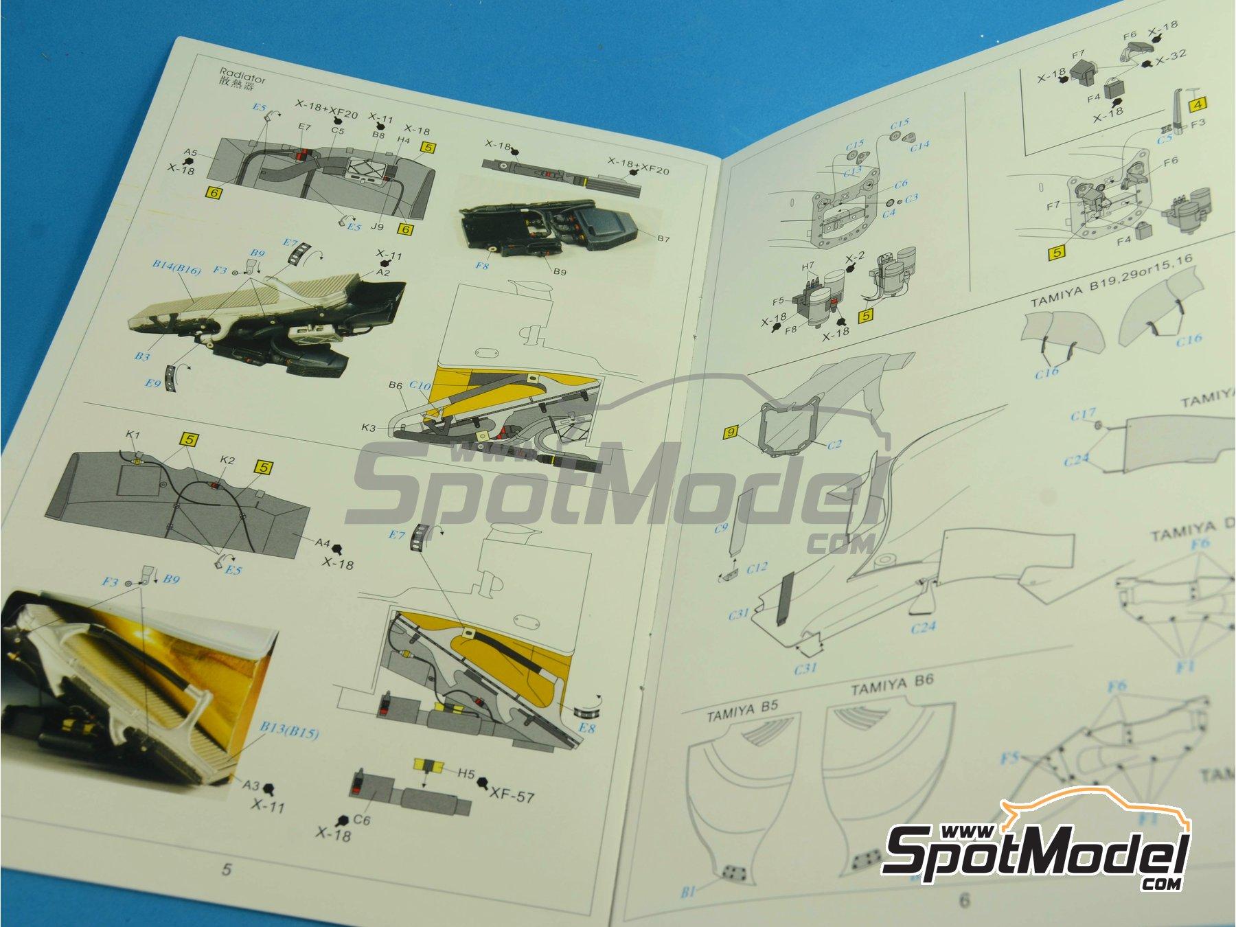 Image 41: RB Racing Renault RB6   Set de mejora y detallado en escala1/20 fabricado por Top Studio (ref.MD29014)
