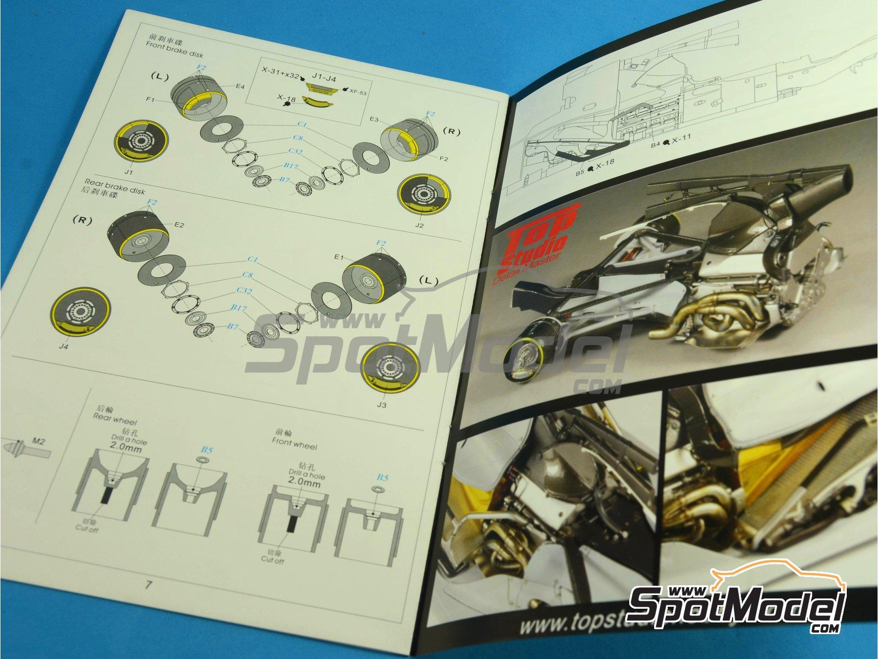 Image 42: RB Racing Renault RB6   Set de mejora y detallado en escala1/20 fabricado por Top Studio (ref.MD29014)