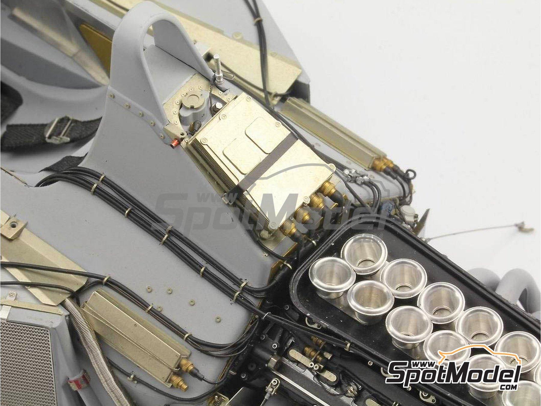 Image 3: McLaren Honda MP4/6 | Set de mejora y detallado en escala1/12 fabricado por Top Studio (ref.MD29015)