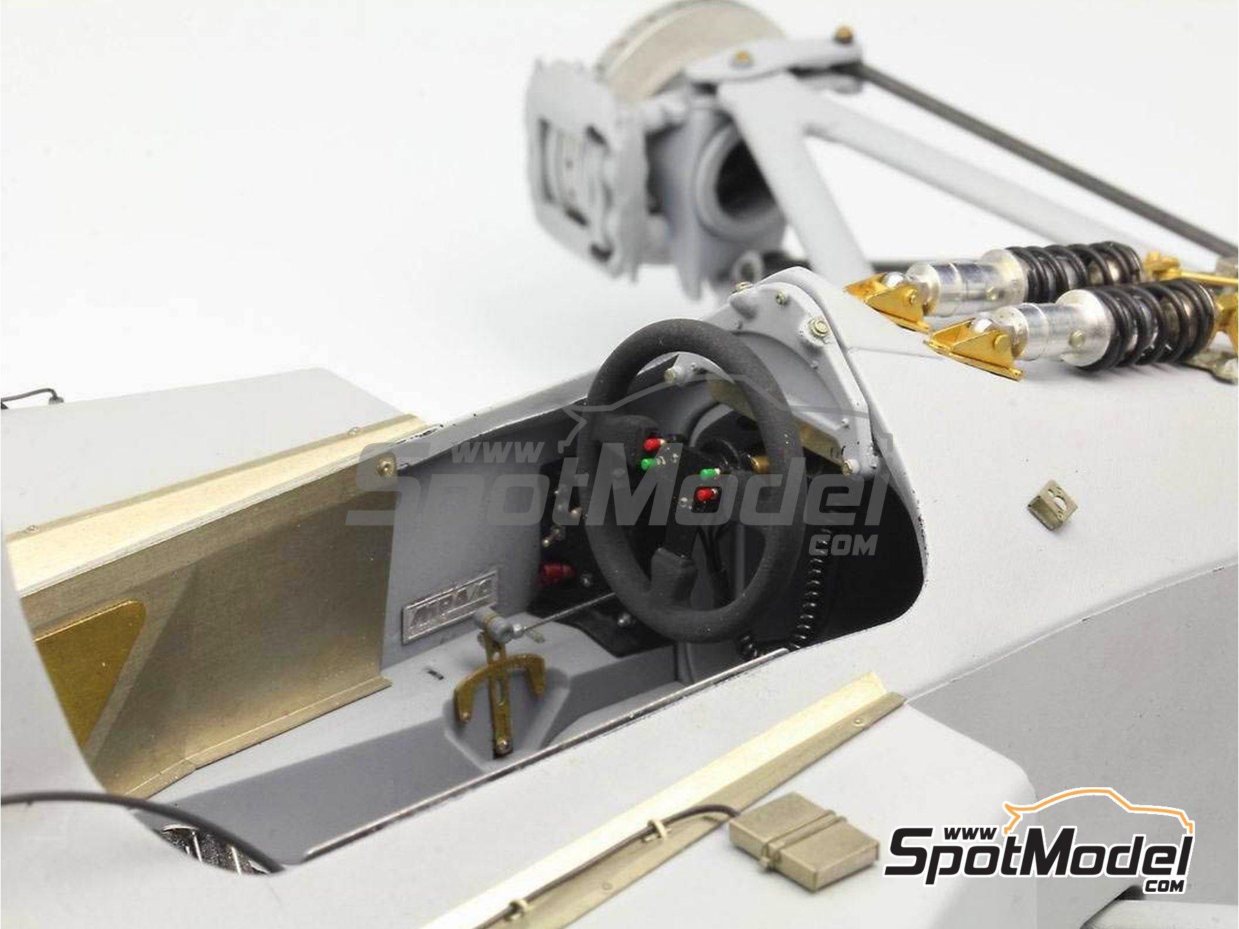 Image 7: McLaren Honda MP4/6 | Set de mejora y detallado en escala1/12 fabricado por Top Studio (ref.MD29015)