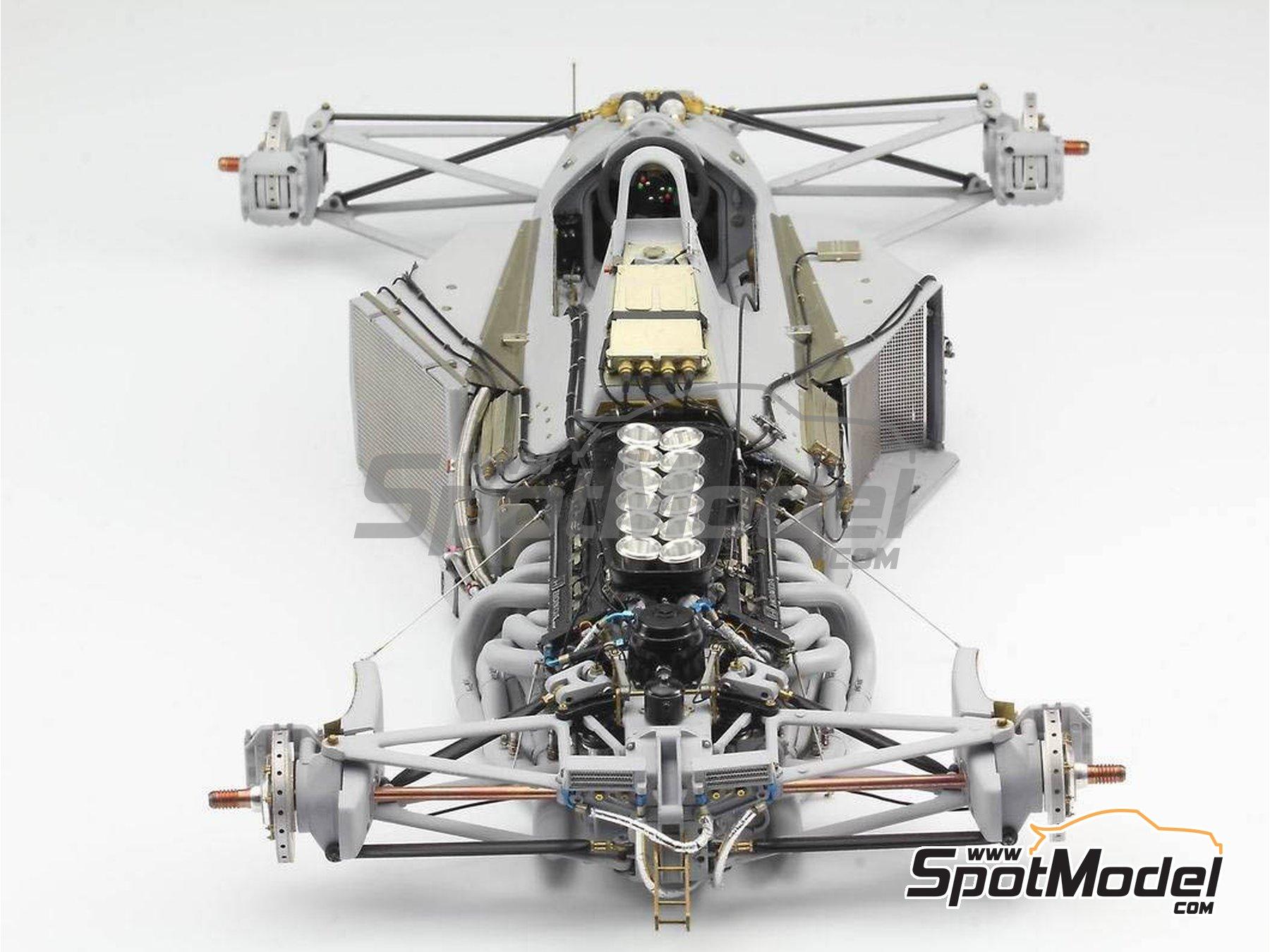 Image 10: McLaren Honda MP4/6 | Set de mejora y detallado en escala1/12 fabricado por Top Studio (ref.MD29015)