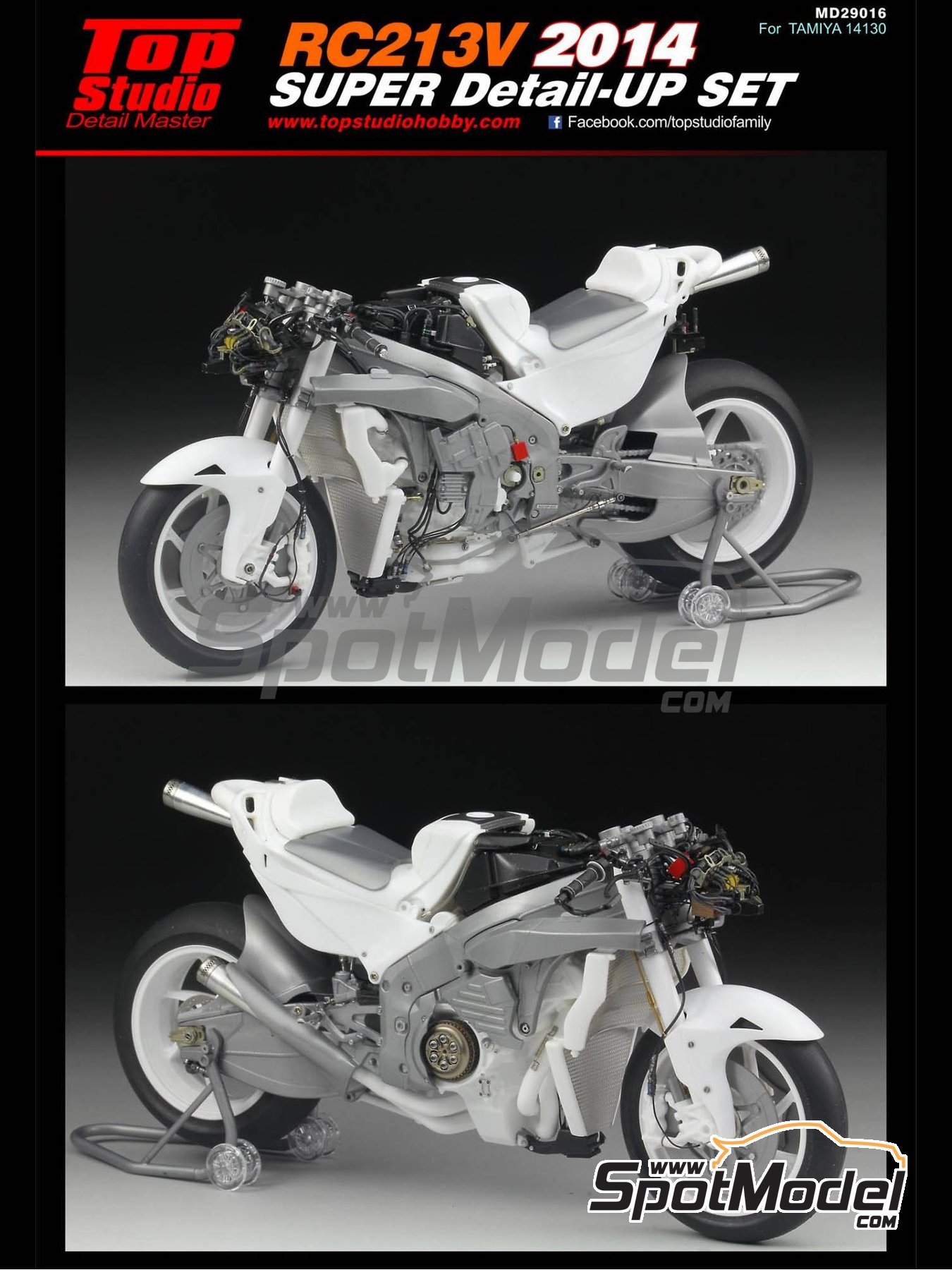 Honda RC213V -  2014 | Detail up set in 1/12 scale manufactured by Top Studio (ref. MD29016) image