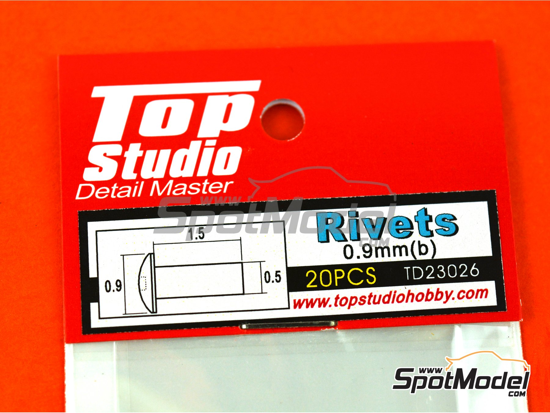 Image 4: 0.9mm rivets | Rivets manufactured by Top Studio (ref. TD23026)