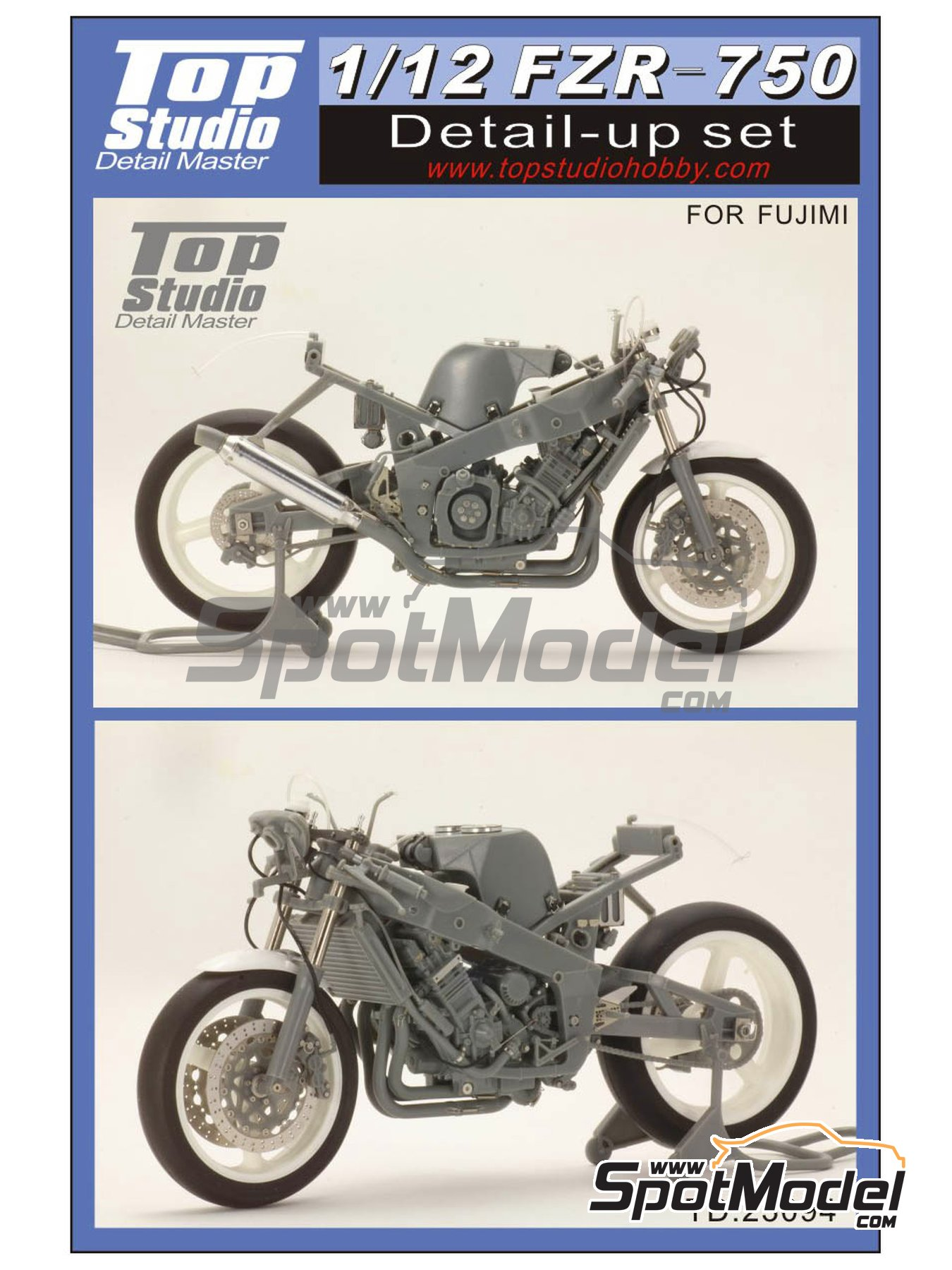 Yamaha FZR-750 - Detail Up Set | Detail in 1/12 scale manufactured by Top Studio (ref. TD23094) image