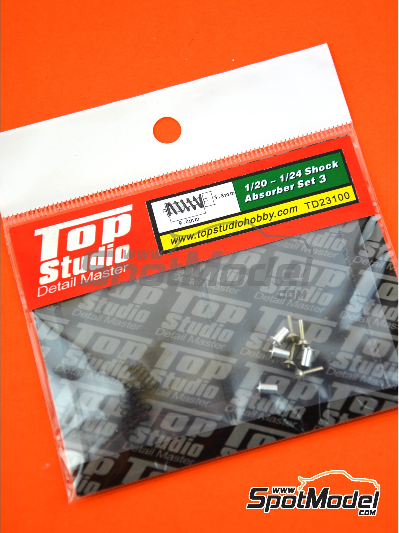 Shock Absorber - Set III | Detail in 1/24 scale manufactured by Top Studio (ref. TD23100) image