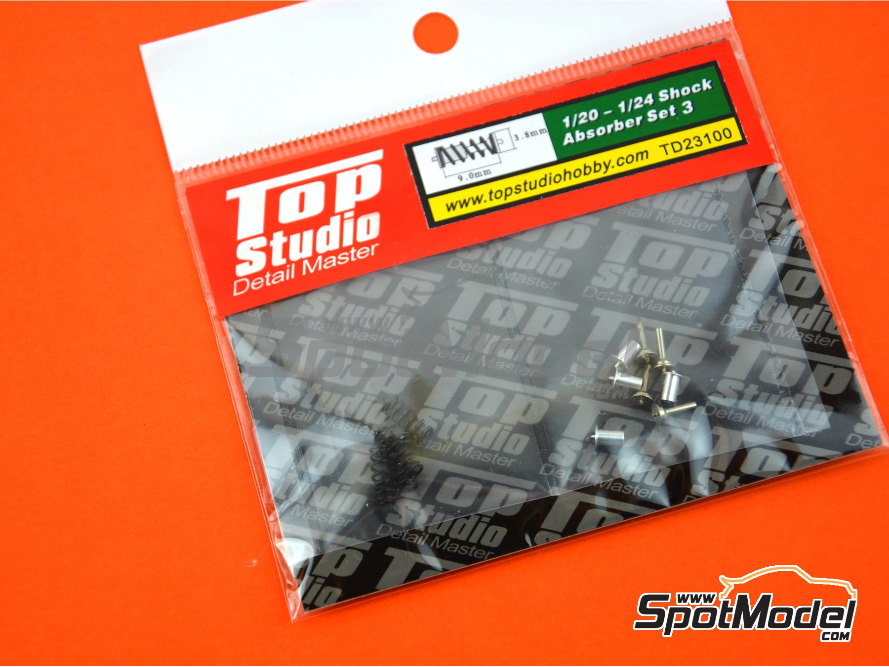 Image 1: Shock Absorber - Set III | Detail in 1/24 scale manufactured by Top Studio (ref. TD23100)