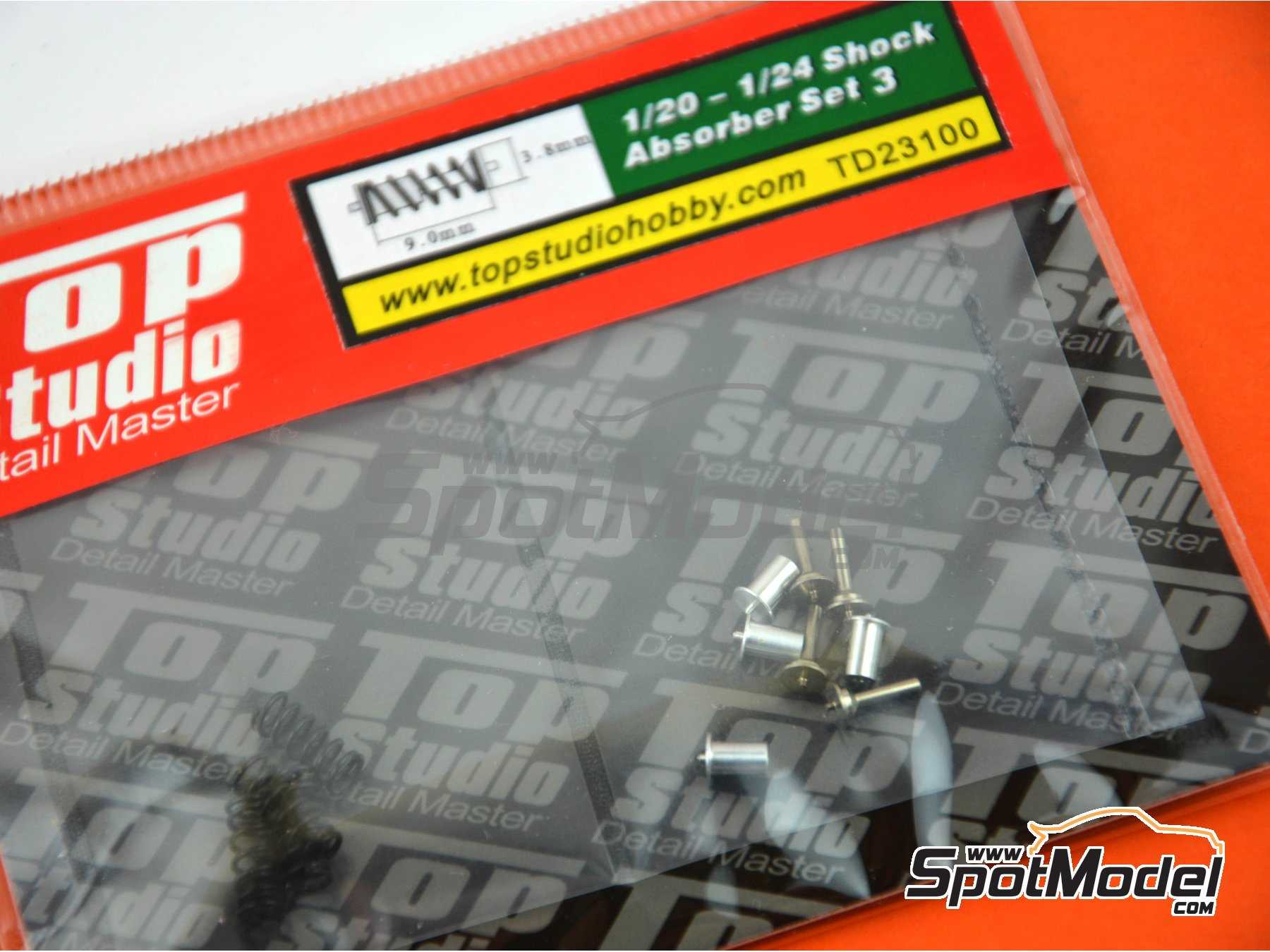 Image 3: Shock Absorber - Set III | Detail in 1/24 scale manufactured by Top Studio (ref. TD23100)