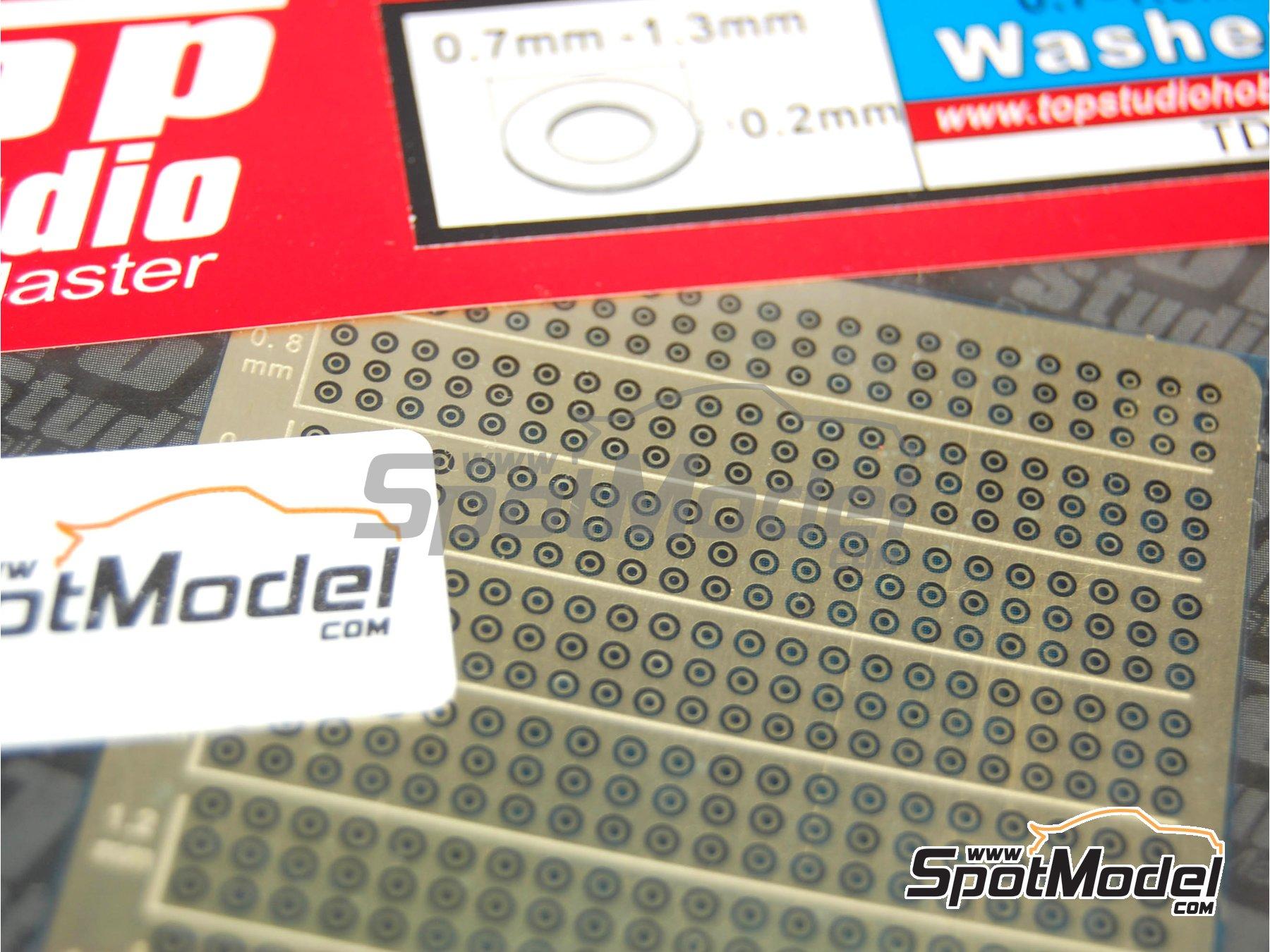 Image 3: Arandelas de 0.7mm a 1.3mm | Detalle fabricado por Top Studio (ref.TD23107)