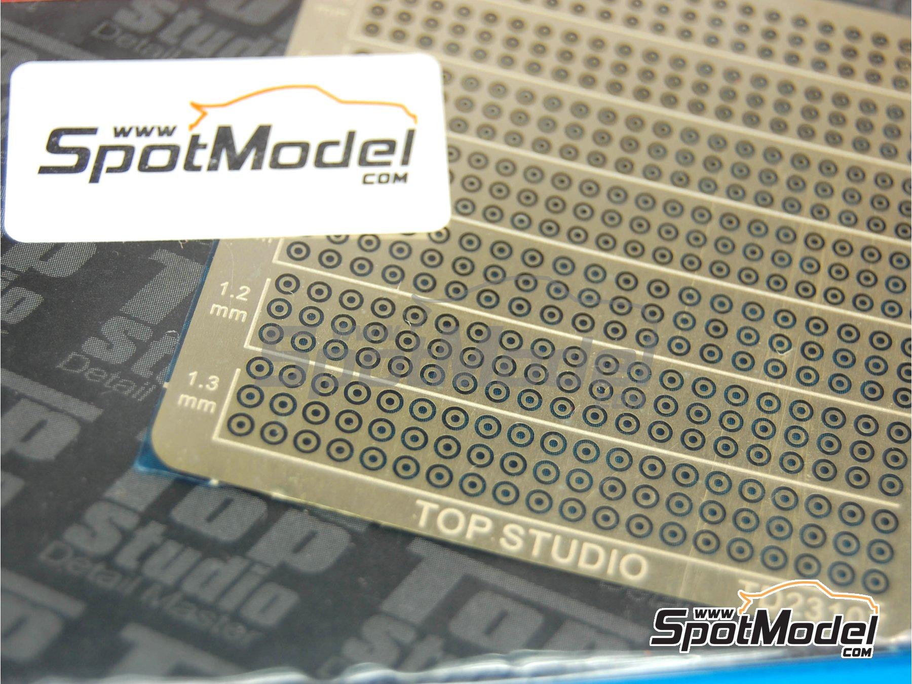 Image 4: Arandelas de 0.7mm a 1.3mm | Detalle fabricado por Top Studio (ref.TD23107)