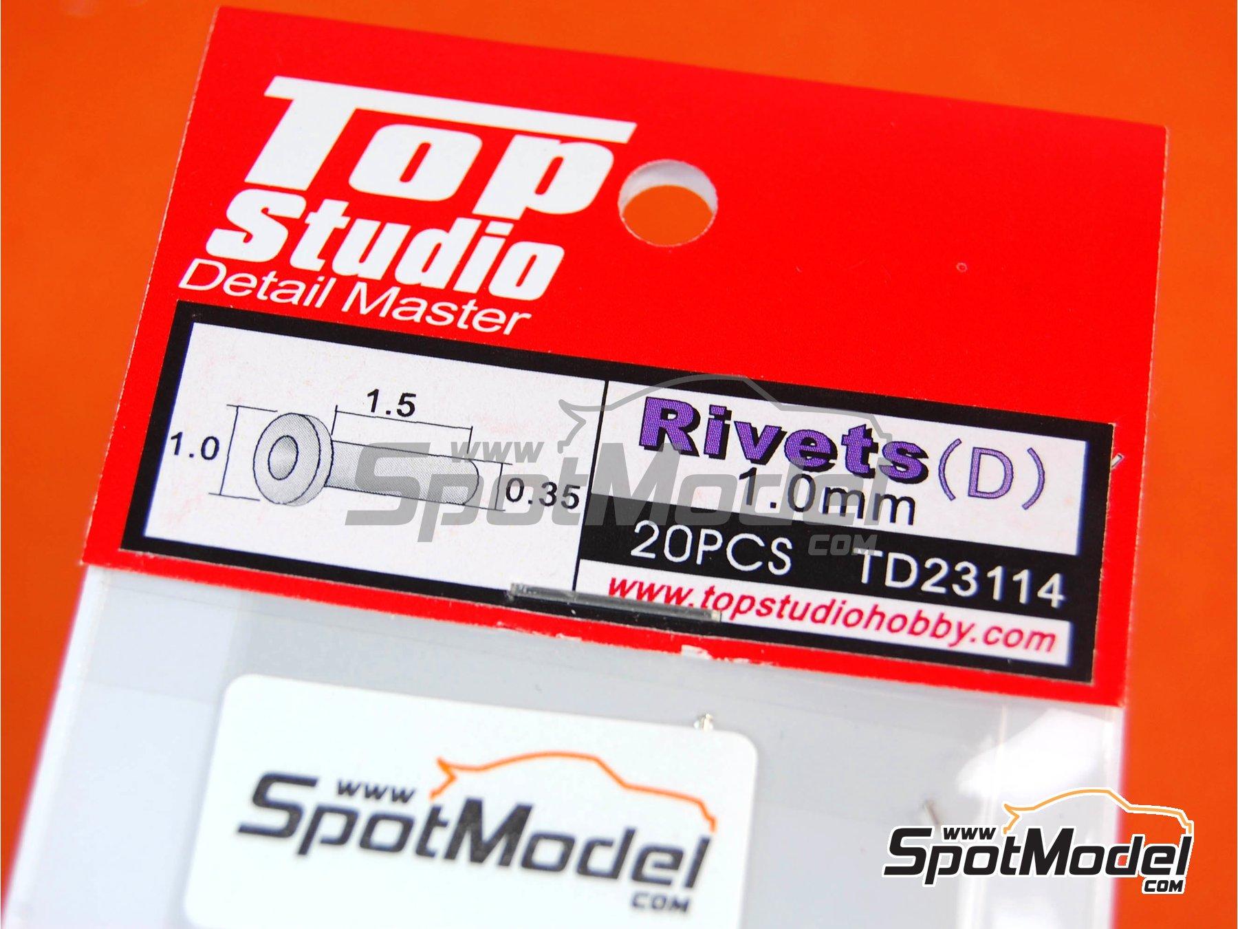 Image 2: Remaches con cabeza plana de 1.0mm | Remaches fabricado por Top Studio (ref.TD23114)