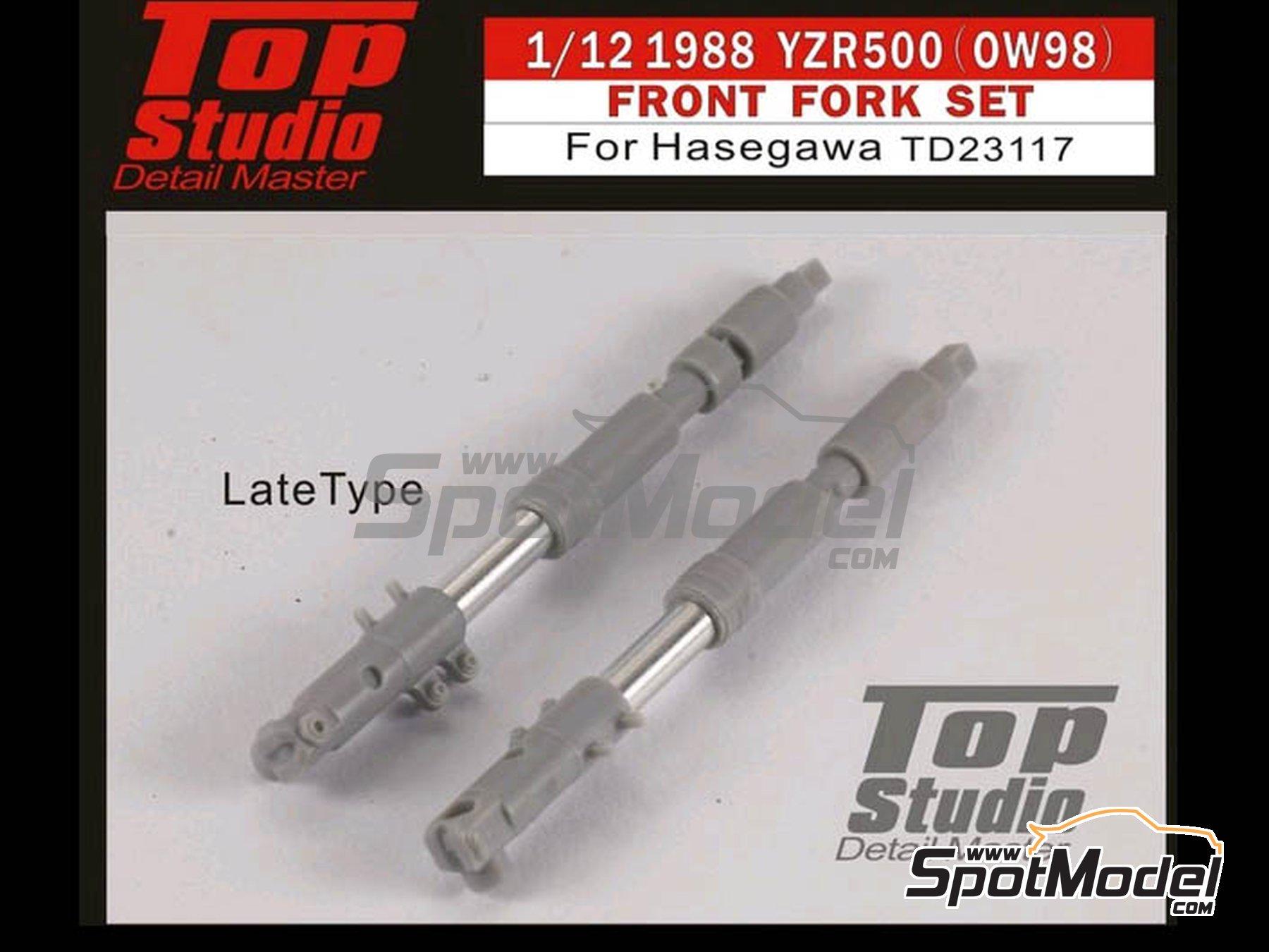 Image 2: Yamaha YZR500 OW98 -  1998 | Horquilla delantera en escala1/12 fabricado por Top Studio (ref.TD23117)