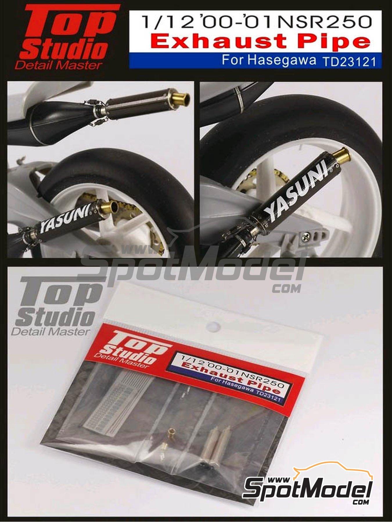 Honda NSR250 -  2000 y 2001 | Escapes en escala1/12 fabricado por Top Studio (ref.TD23121) image