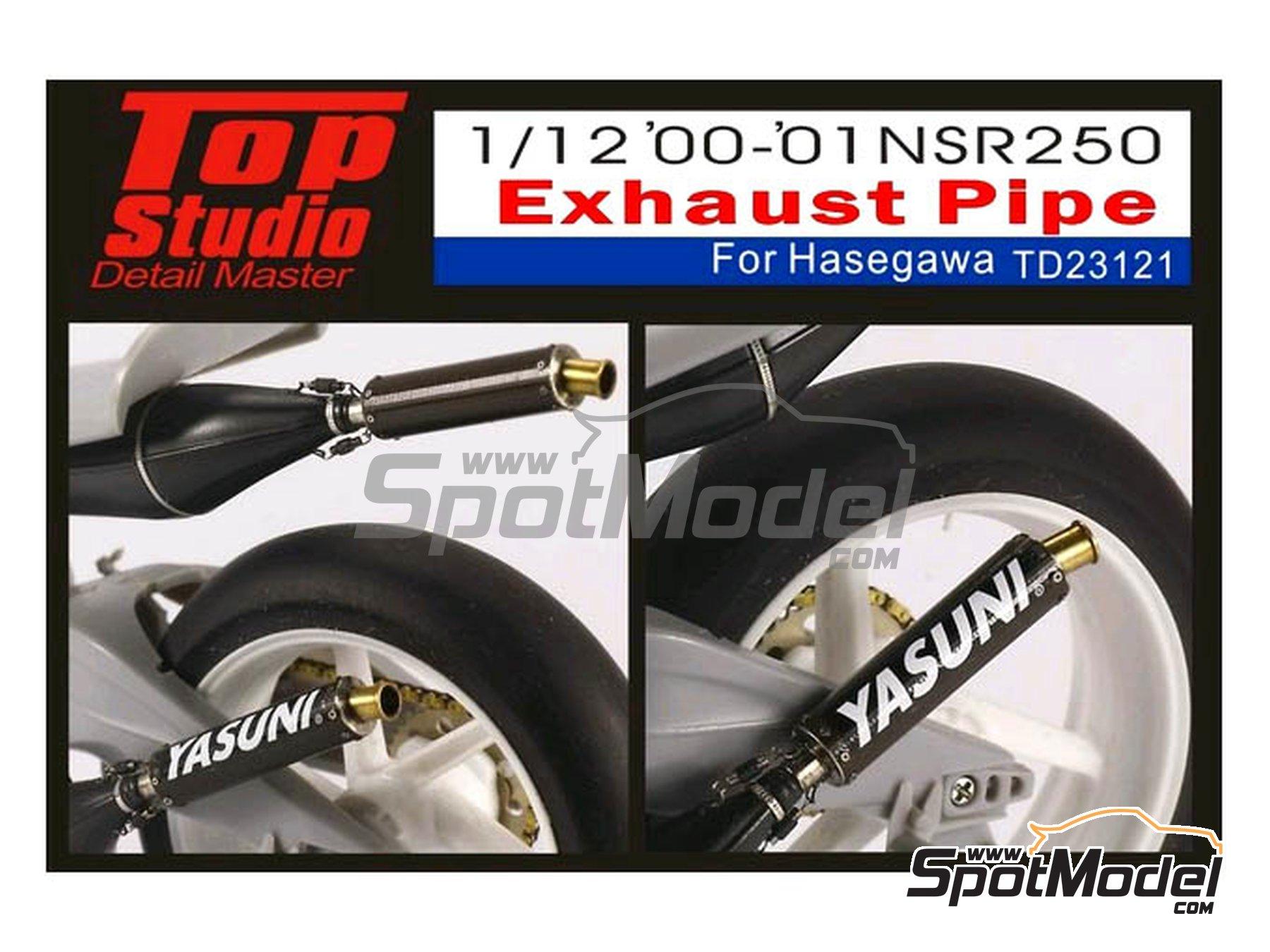 Image 1: Honda NSR250 -  2000 y 2001 | Escapes en escala1/12 fabricado por Top Studio (ref.TD23121)