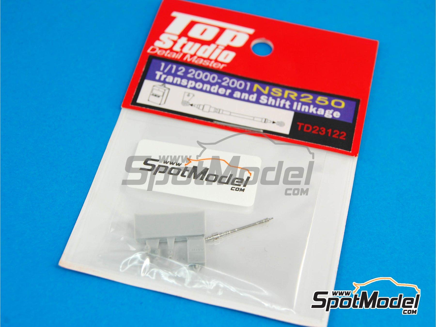 Image 2: Honda NSR250 - Transponder and shift linkage - Transponder y varilla del cambio -  2000 y 2001 | Set de mejora y detallado en escala1/12 fabricado por Top Studio (ref.TD23122)