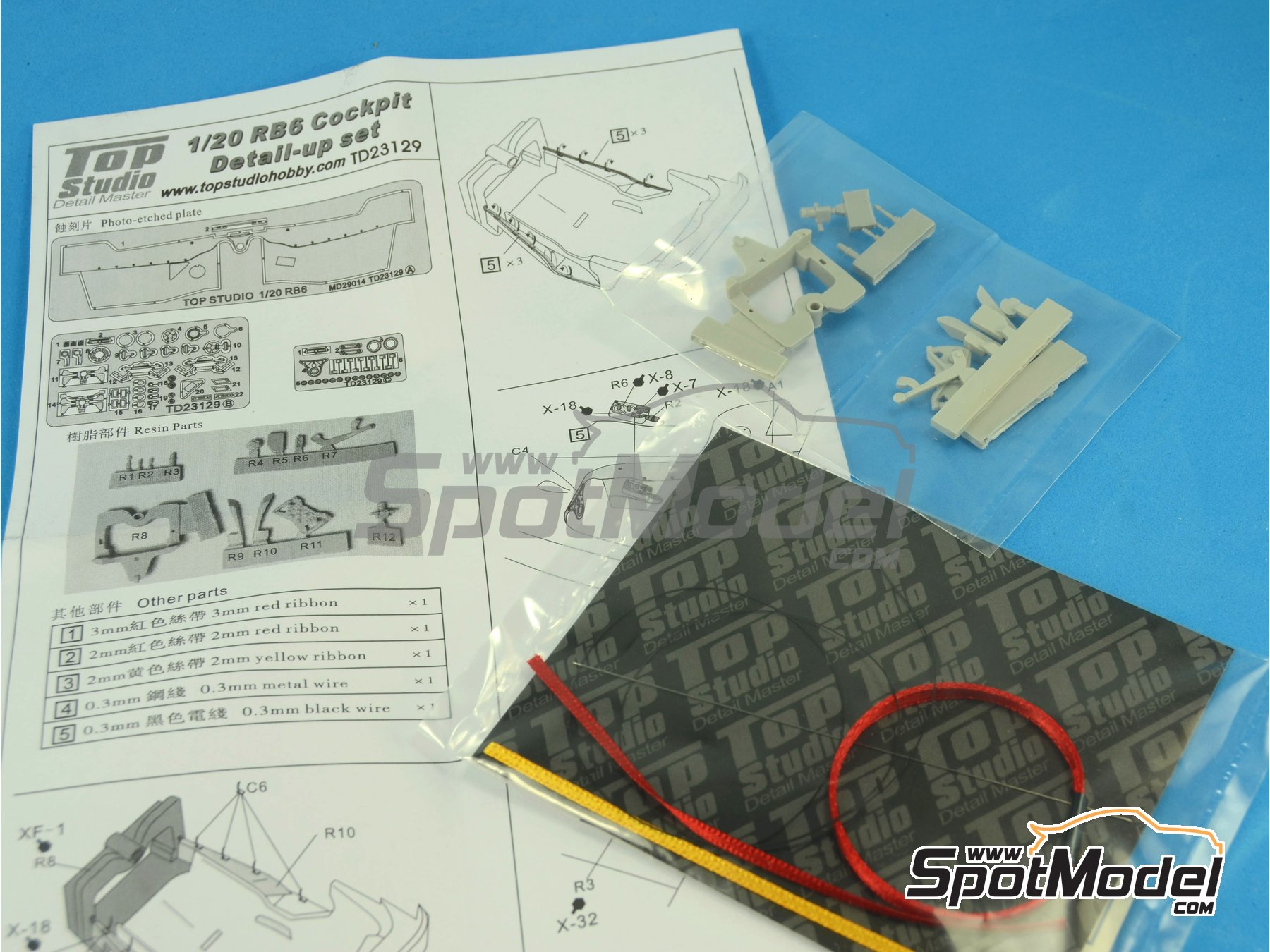 Image 7: RB Racing Renault RB6 - Cockpit | Detail in 1/20 scale manufactured by Top Studio (ref.TD23129)