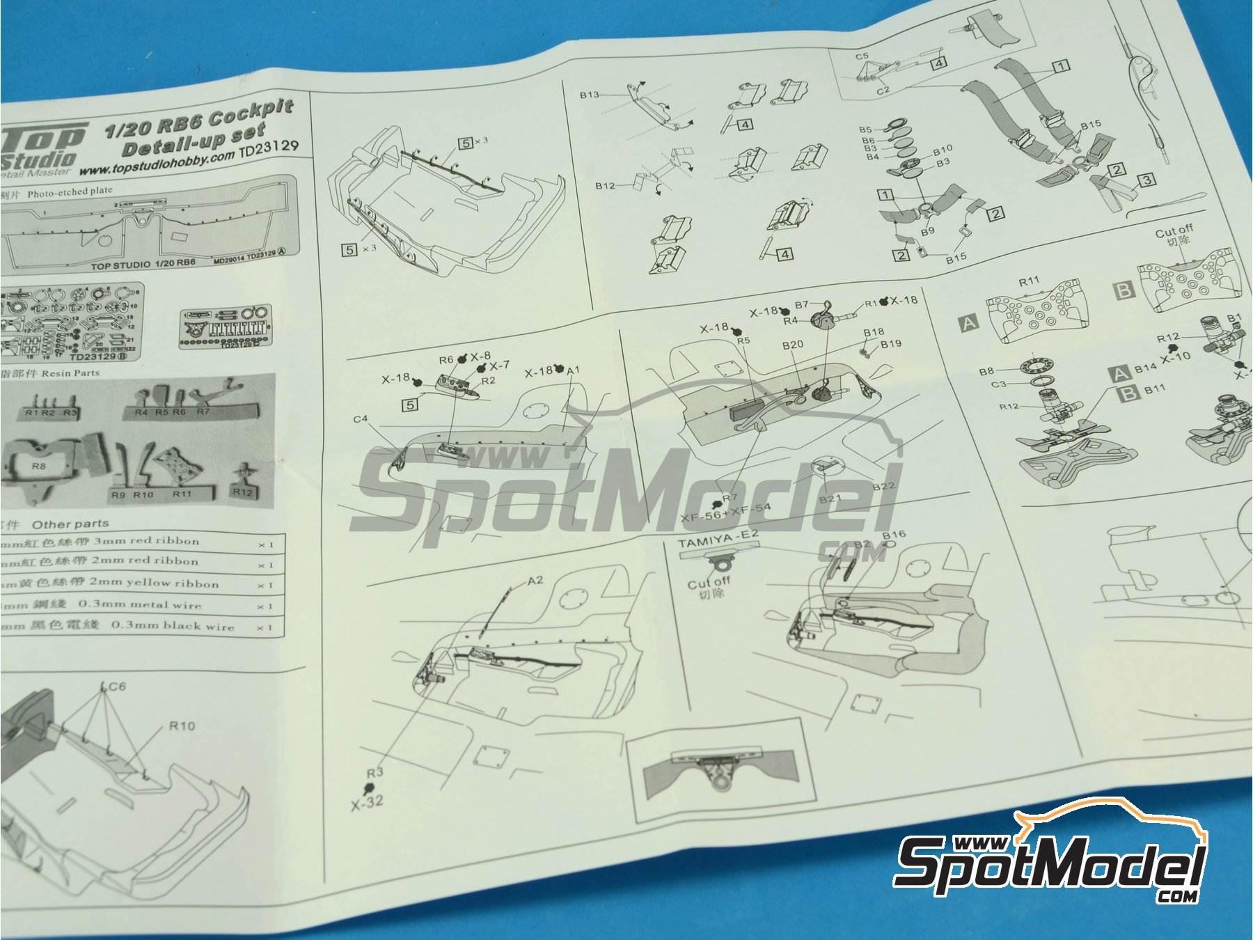 Image 8: RB Racing Renault RB6 - Cockpit | Detail in 1/20 scale manufactured by Top Studio (ref.TD23129)