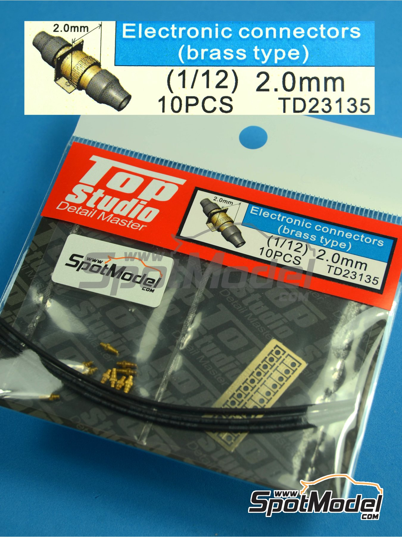 Conectores eléctricos | Detalle en escala1/12 fabricado por Top Studio (ref.TD23135) image