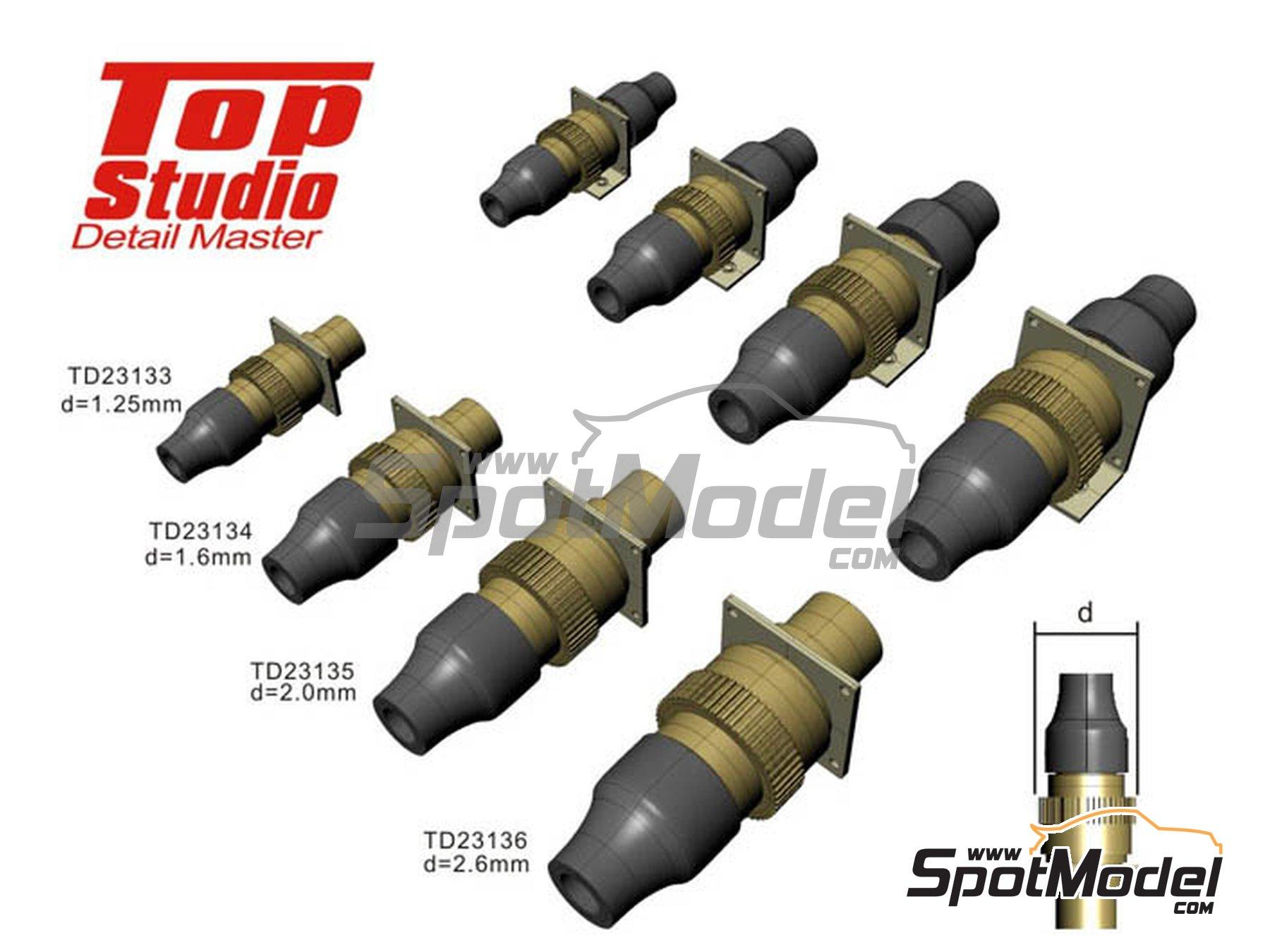 Image 1: Conectores eléctricos | Detalle en escala1/12 fabricado por Top Studio (ref.TD23135)