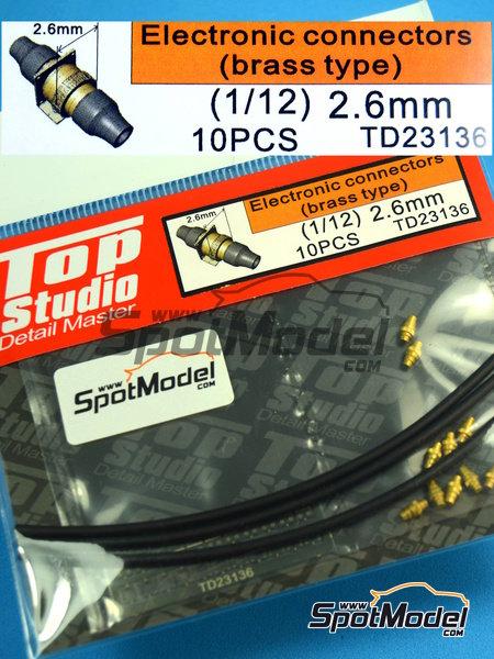 Conectores eléctricos | Detalle en escala1/12 fabricado por Top Studio (ref.TD23136) image