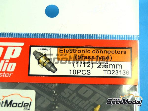Image 3: Conectores eléctricos | Detalle en escala1/12 fabricado por Top Studio (ref.TD23136)