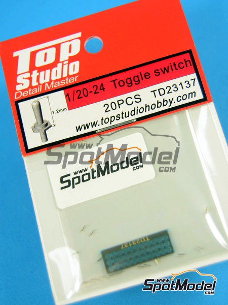 Toggle switch | Detail in 1/20 scale manufactured by Top Studio (ref. TD23137) image